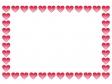 バレンタイン・ハートのフレーム・枠素材02