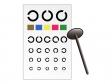 視力検査表のイラスト素材