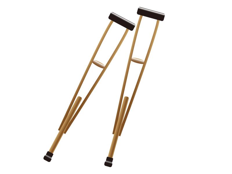 松葉杖のイラスト素材