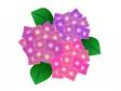 ピンク色と赤紫の紫陽花のイラスト素材