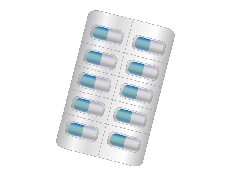 カプセルタイプの薬・医療イラスト素材
