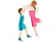 バスケットボールをしているイラスト素材