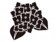 紫陽花のシルエット(白黒)のイラスト素材