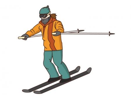 スキーのイラスト素材