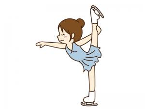 フィギュアスケート女子のイラスト素材02