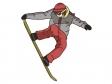スノーボードをしているシーンのイラスト素材