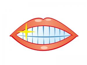 健康な歯をイメージしたイラスト素材