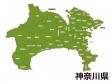 神奈川県(市区町村別)の地図イラスト素材