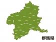 群馬県(市町村別)の地図イラスト素材