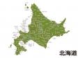 北海道(市区町村別)の地図イラスト素材