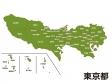 東京都(市区町村別)の地図イラスト素材