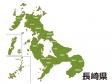 長崎県(市町村別)の地図イラスト素材