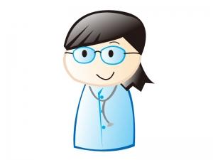 女性の医師のイラスト