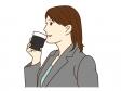 コーヒーを飲んでいるシーンのイラスト