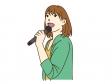 カラオケで歌っているイラスト