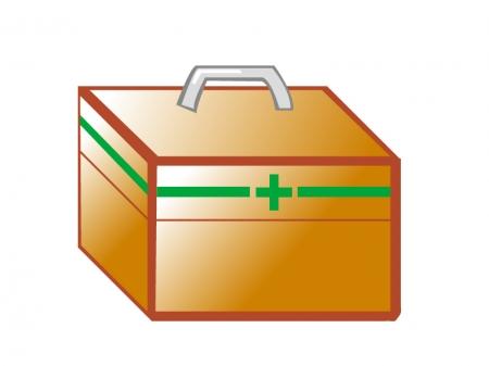 茶色い救急箱のイラスト