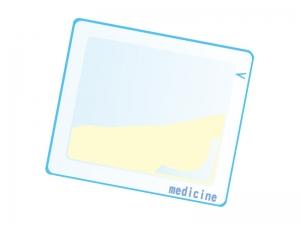 黄色い粉薬のイラスト