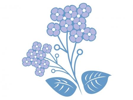 紫色の小花のイラスト