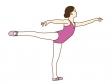 バレエをしている女性のイラスト