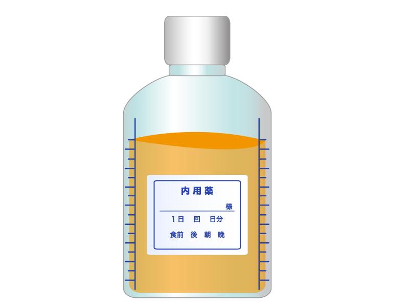 シロップ薬のイラスト