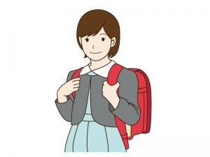 小学生の女の子のイラスト