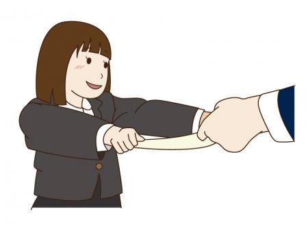 卒園と女の子のイラスト