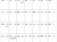 六曜付シンプル・2015年11月(平成27年)カレンダー・A4印刷用