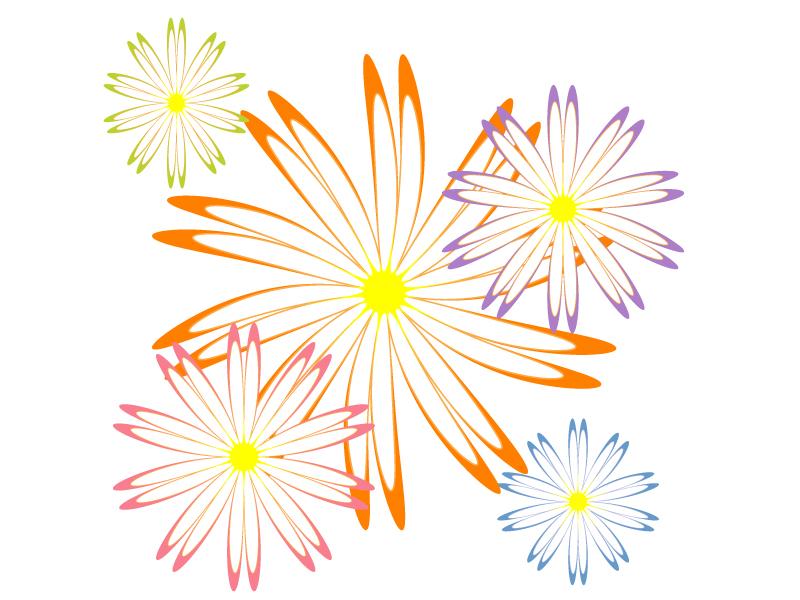 マーガレットの花びらのイラスト