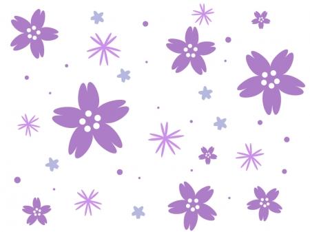 たくさんの紫色の小花のイラスト