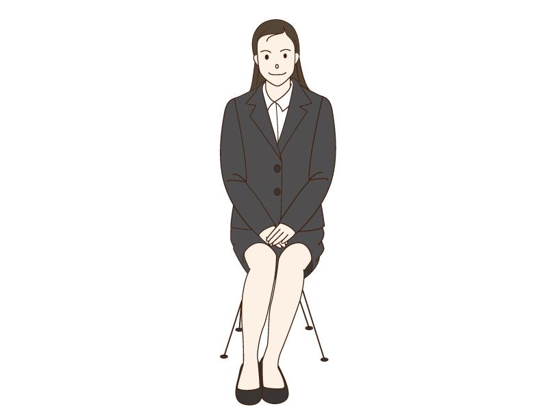 面接をしている女性のイラスト