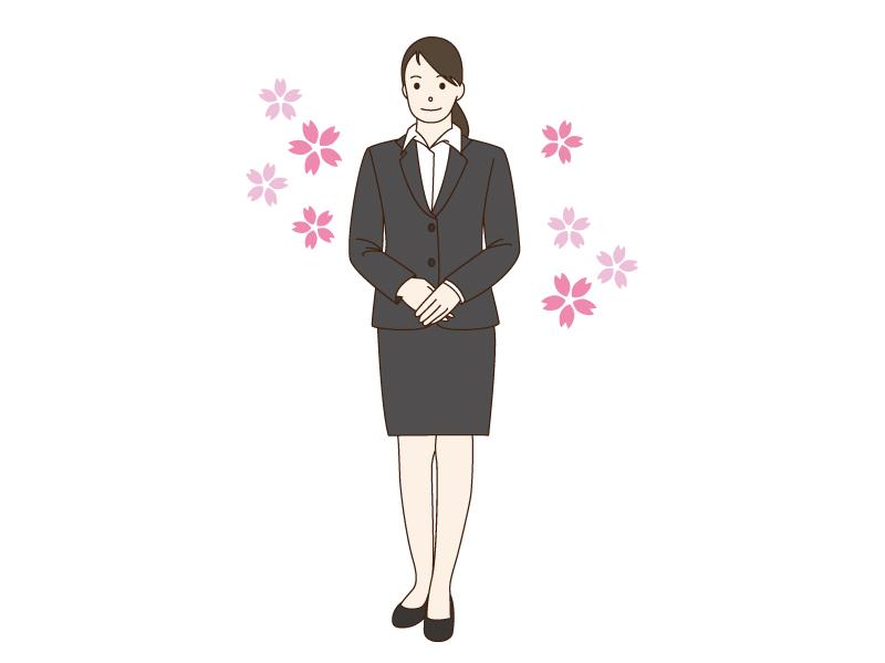 新入社員をイメージした女性のイラスト