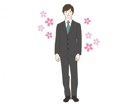 新入社員をイメージした男性のイラスト
