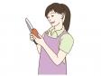 料理をしている女性のイラスト02