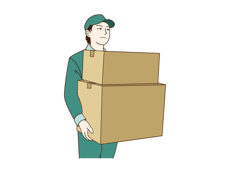 宅配・引っ越し業者のイラスト02