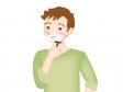 ひげを剃る男性のイラスト