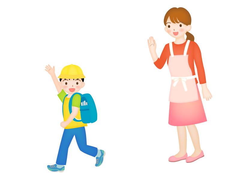 子どもの「行ってきます」のイラスト