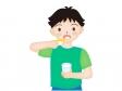 歯を磨く男の子のイラスト