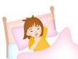 目が覚める女の子のイラスト