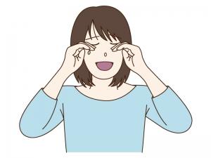 女性が泣いているシーンのイラスト