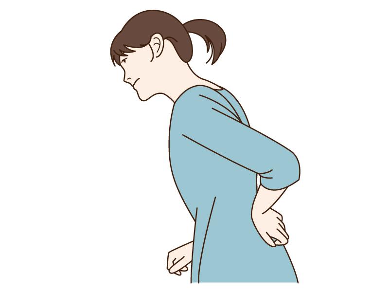 腰痛で腰を押さえている人のイラスト