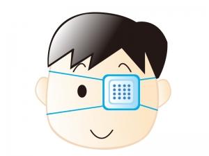 眼帯をしている子供のイラスト