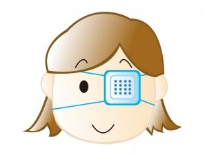 眼帯をしている女の子のイラスト