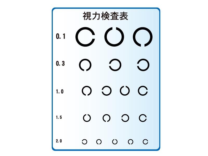 視力検査表のイラスト02