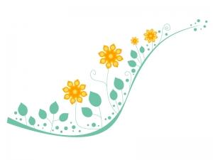 黄色の小花のイラスト