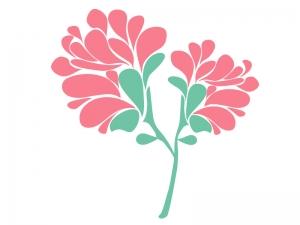 ピンク色の小花のイラスト03