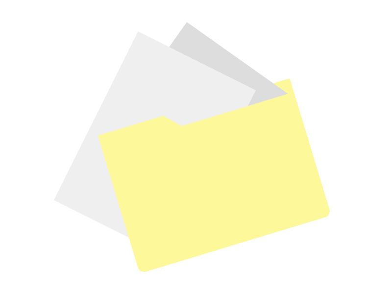 カルテとファイルのイラスト