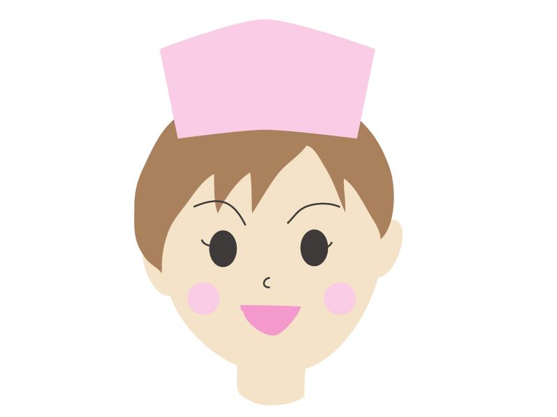 笑顔の女性の看護師さんのイラスト