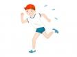 走る男の子のイラスト