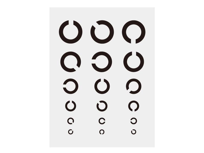視力検査表のイラスト03