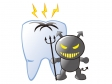 虫歯菌と虫歯のイメージイラスト